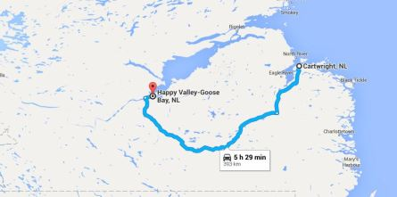 Cartwritght to Happy Valeey Goose Bay